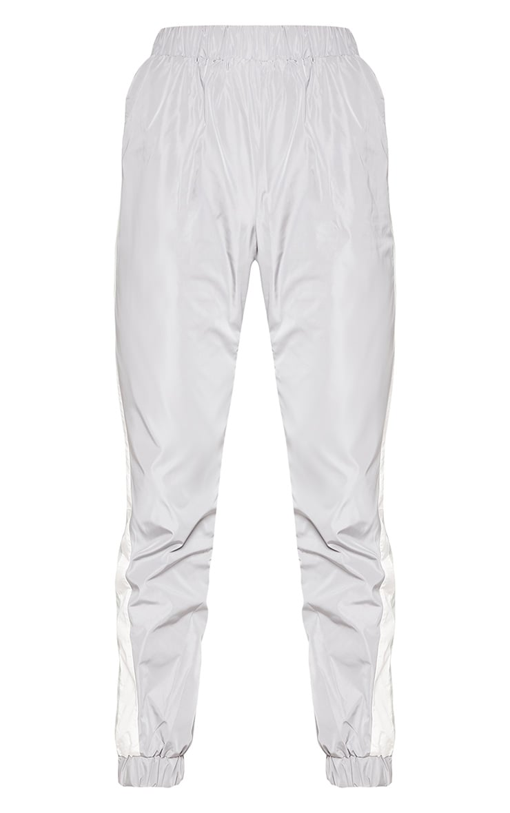 Grey Stripe Shell Tracksuit Track Pants 3