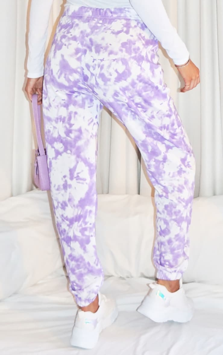 Tall Lilac Tie Dye Track Pants 3