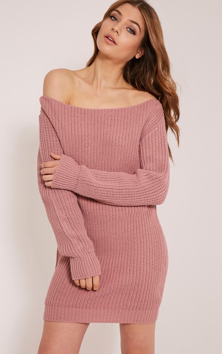 Larissa Rose Bardot Jumper Dress 1