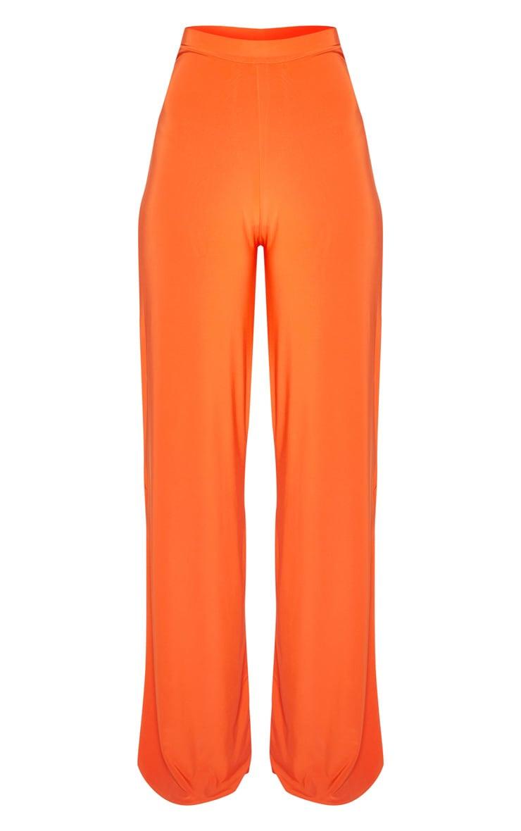 Tangerine Side Split Slinky Trousers 3