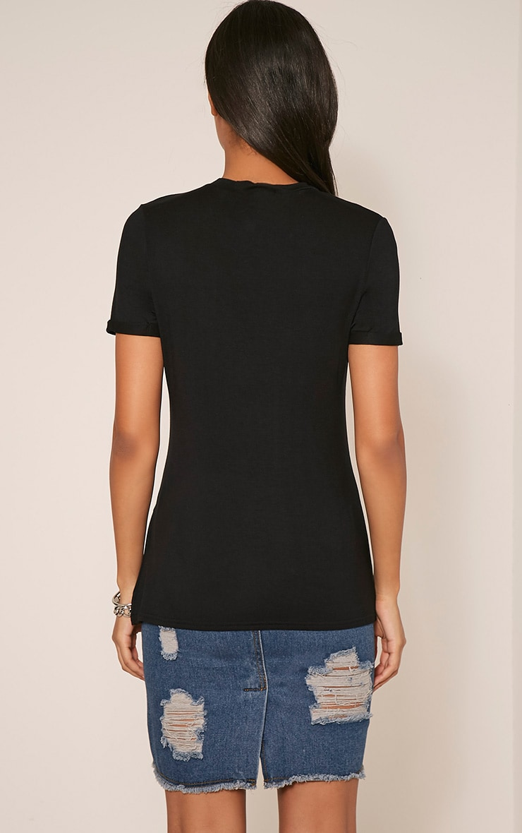 Wild & Free Slogan Black T-Shirt 1