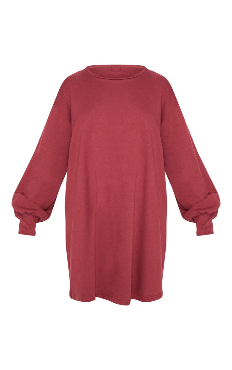 Sianna Burgundy Oversized Sweater Dress 3
