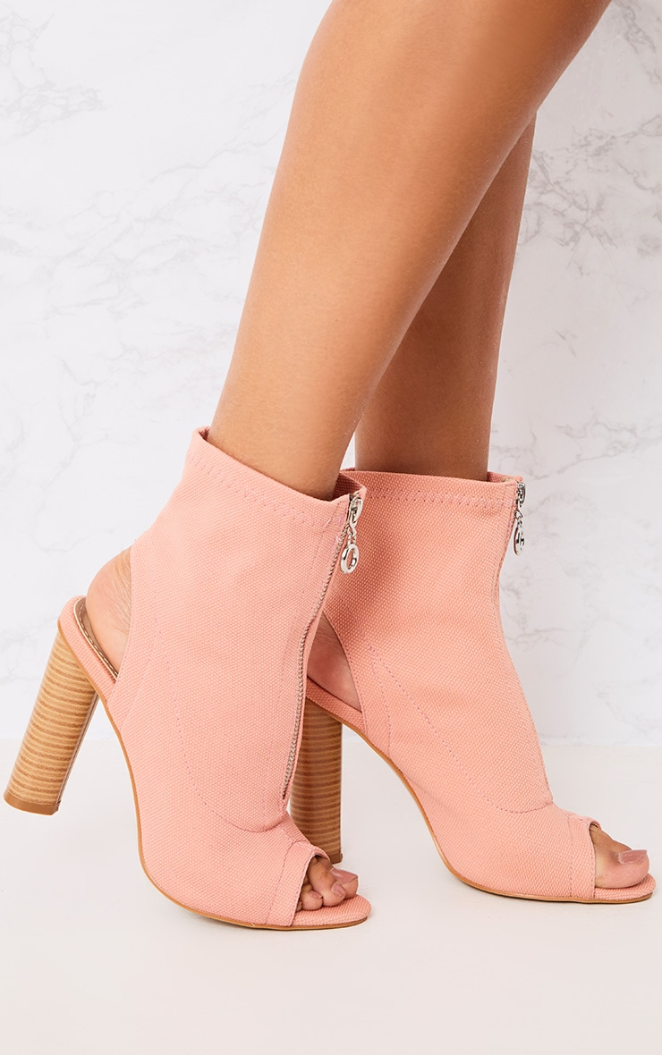 Gebriel Blush Ring Zip Sock Boots 2