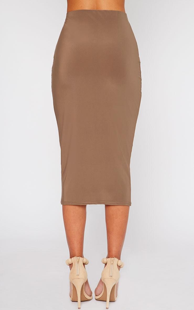 Siobhan Mocha Slinky Midi Skirt 4
