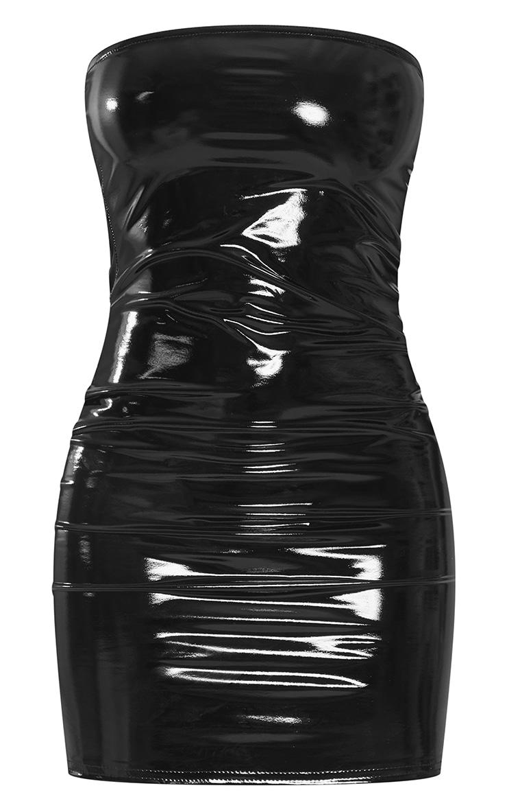 Petite - Mini-robe en vinyle noire 6