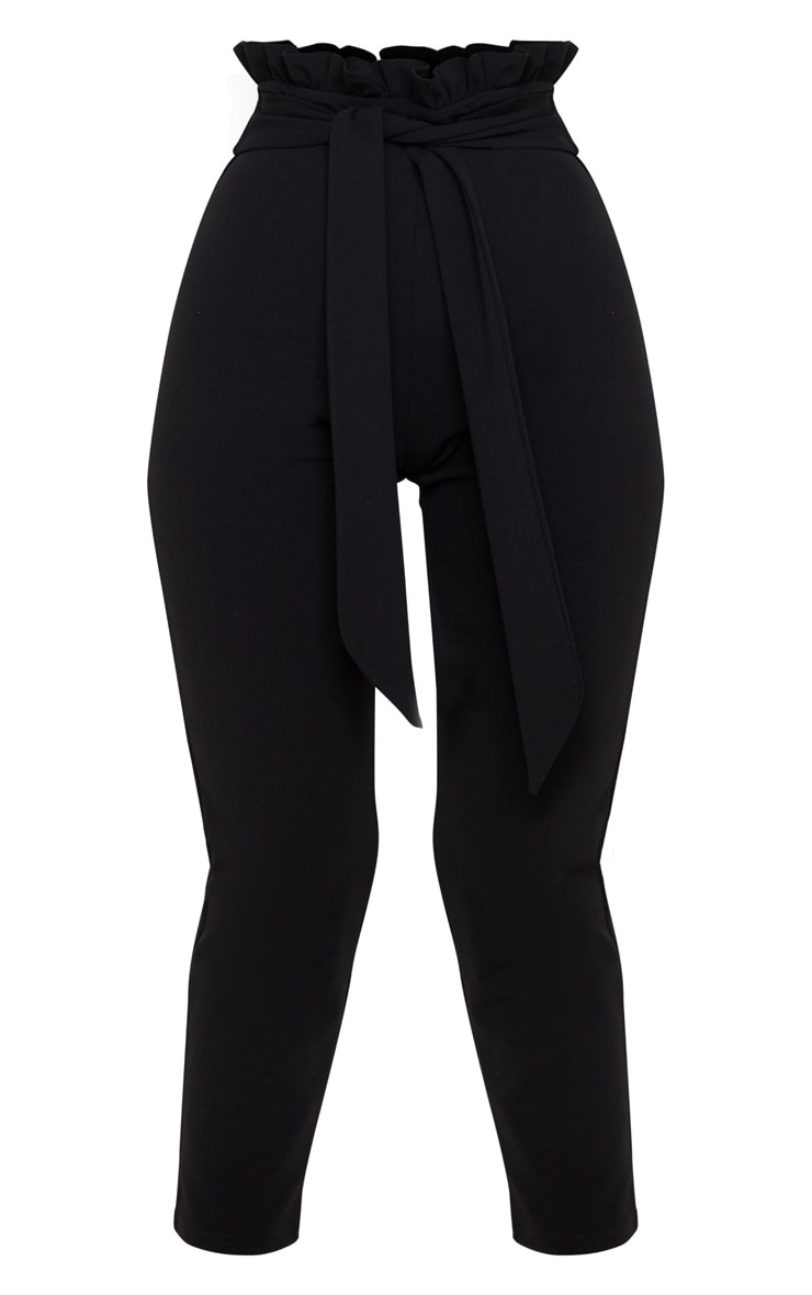 Black Paperbag Waist Crop Pants 3