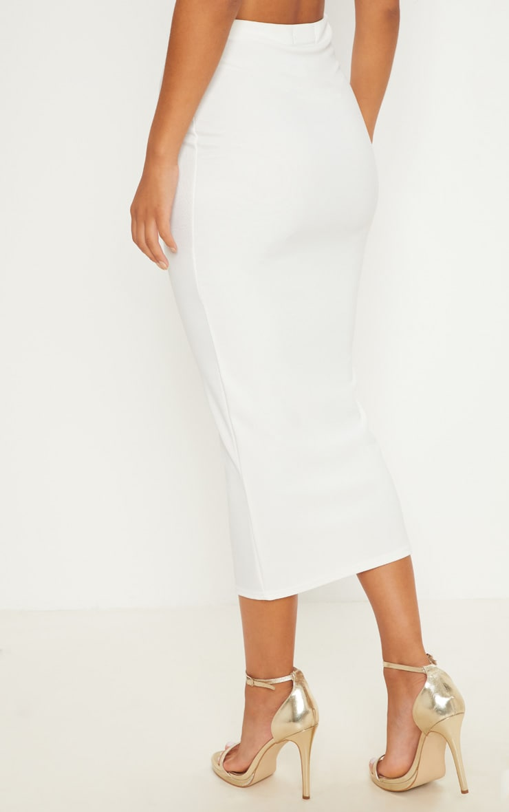 Cream Rib Midaxi Skirt  4