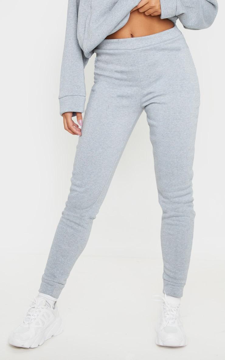Grey Marl Fleece Joggers 2