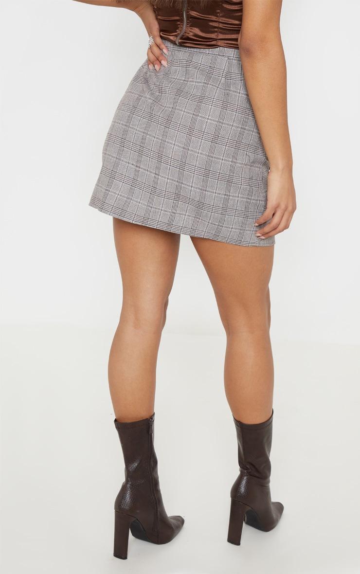 Stone Check 3D Pocket Detail Tennis Skirt 4