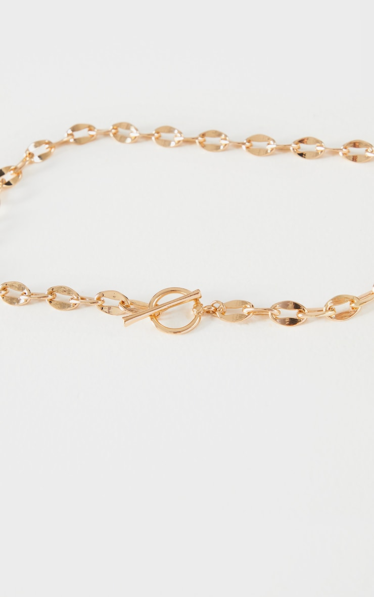 Gold Linked Chain Necklace 4