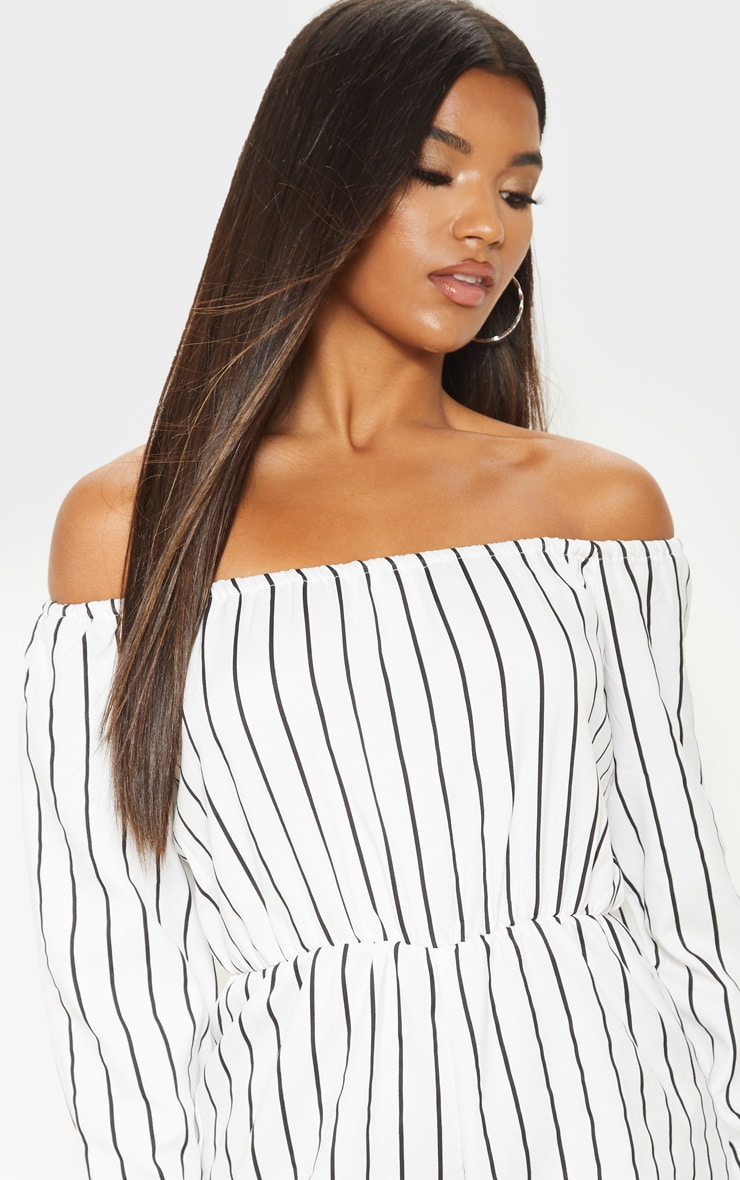 Kennie White Stripe Playsuit 5