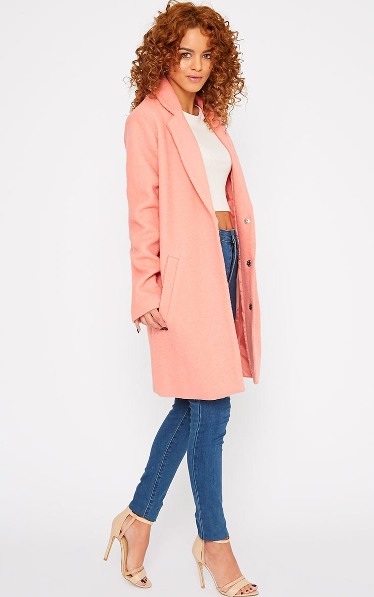 Tammy Coral Wool Coat 5
