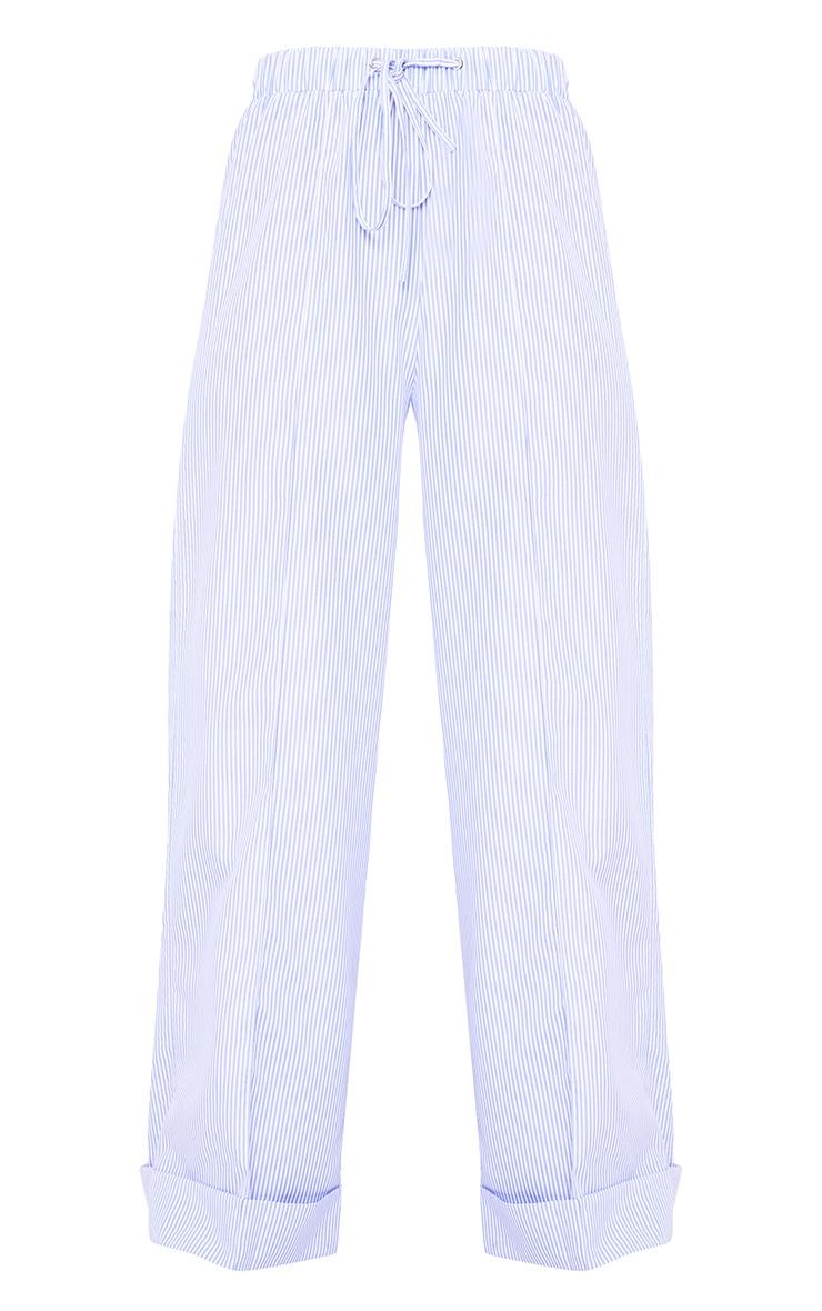 Cayley Light Blue Pinstripe Wide Leg Trousers 3