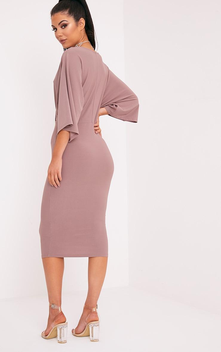 Renee Truffle Cape Midi Dress 2