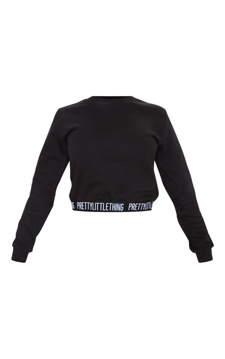 PRETTYLITTLETHING Petite Black Lounge Sweater 3