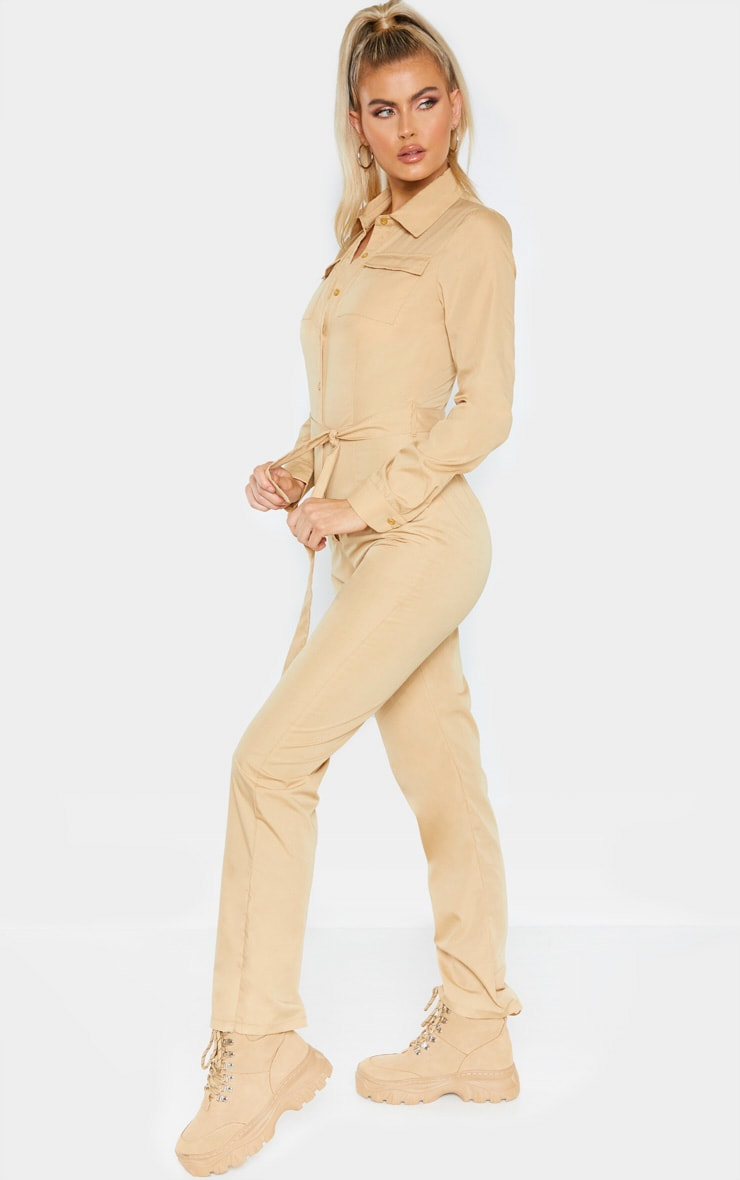 Tall Fawn Square Pocket Long Sleeve Utility Jumpsuit 3