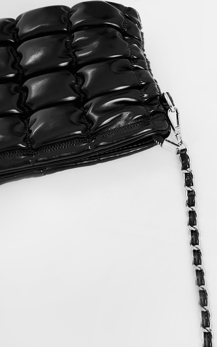 Black Quilted Cross Body Bag 3