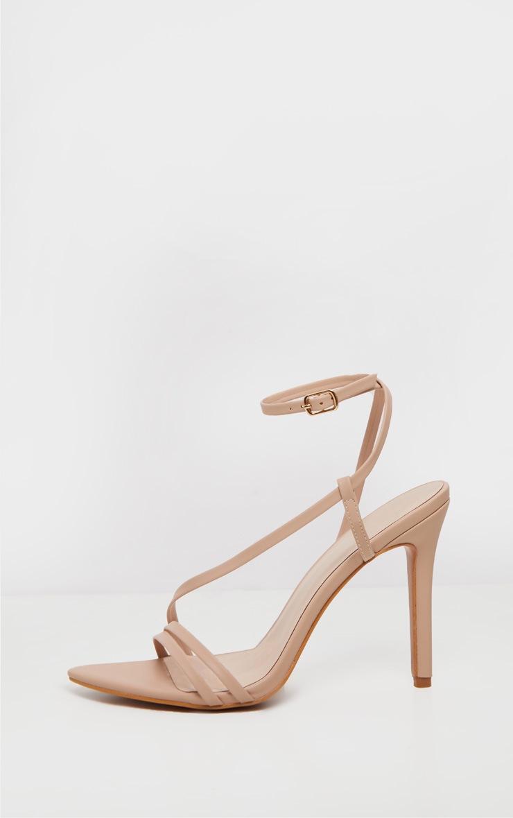 Nude Asymmetric Strappy Sandal 4