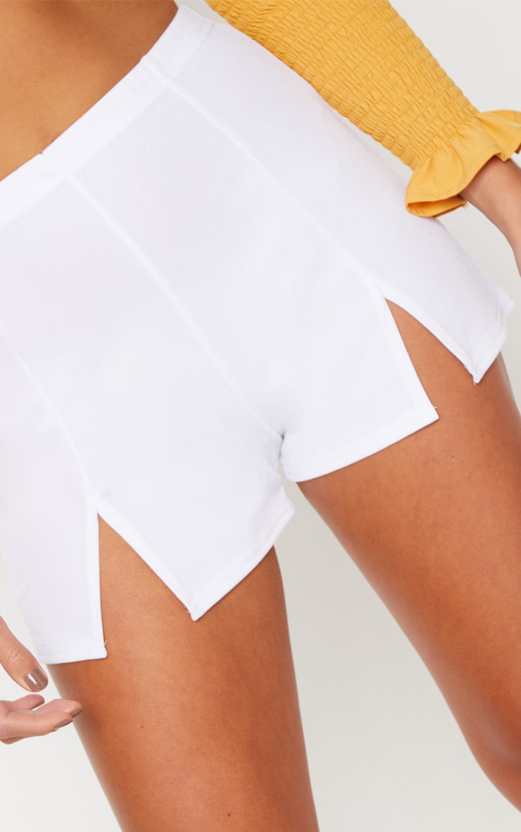 White Seam Split Front Short 5