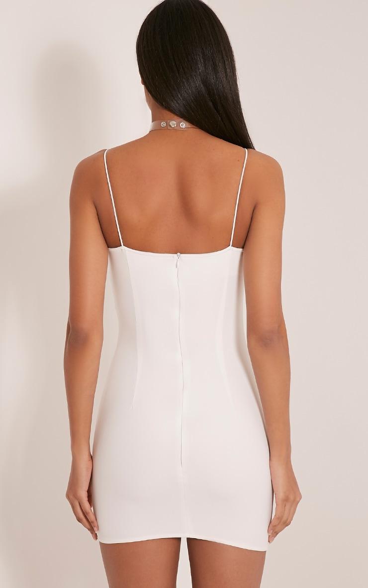 Deana White Floral Embroidered Strappy Mini Dress 3