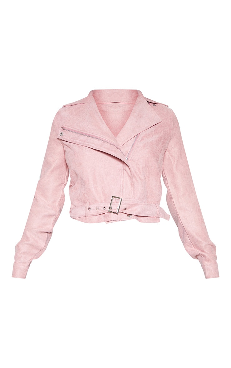 Tall Rose Biker Zip Up Jacket 4