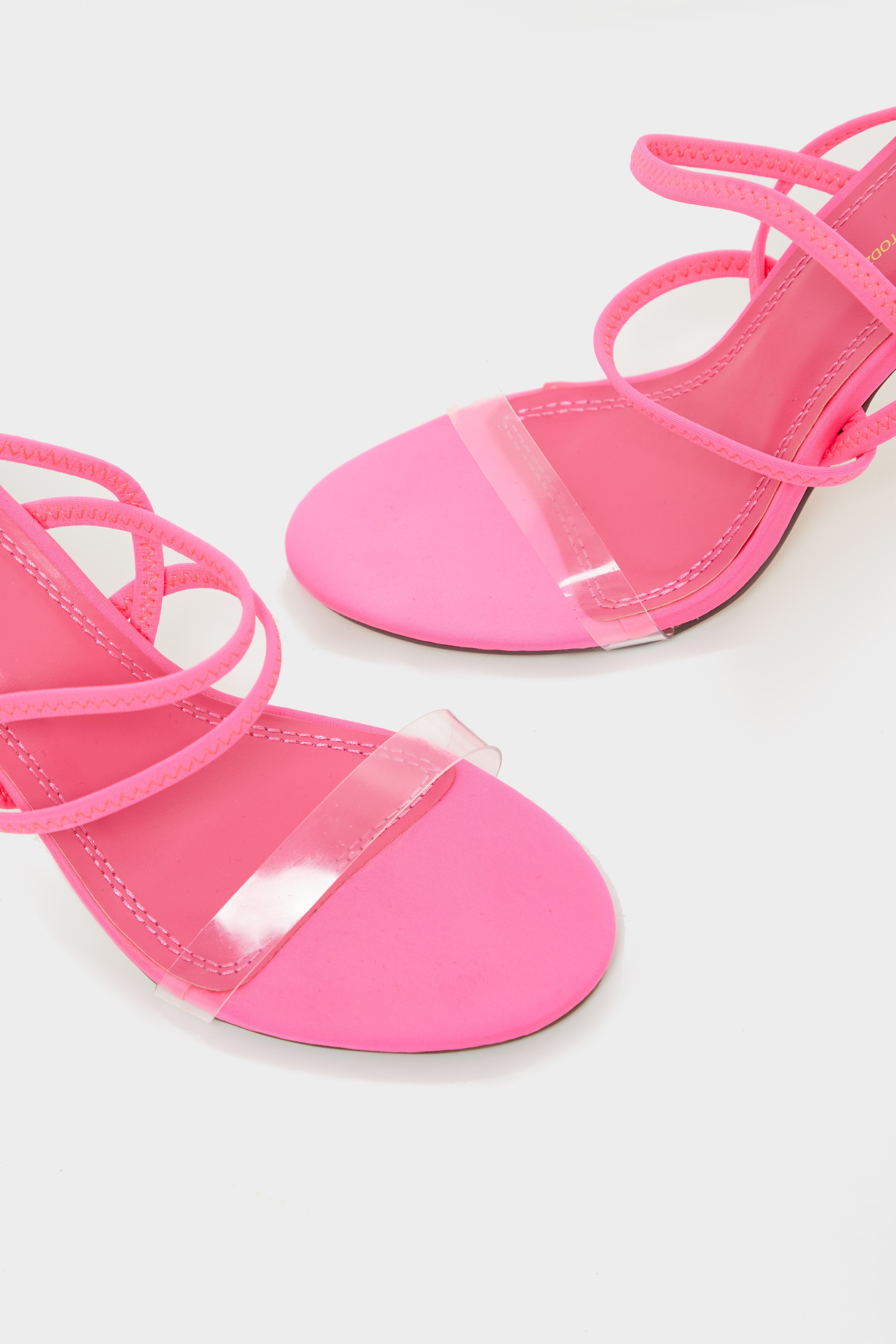 Neon Pink Slingback Strappy Sandal 4
