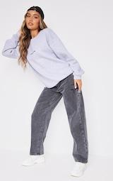 PRETTYLITTLETHING Grey Marl Oversized Sweatshirt 3