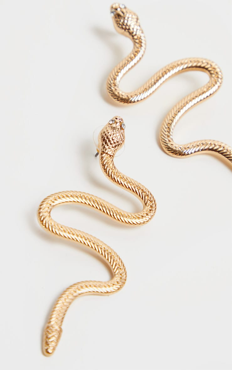 Gold Snake Earrings 3