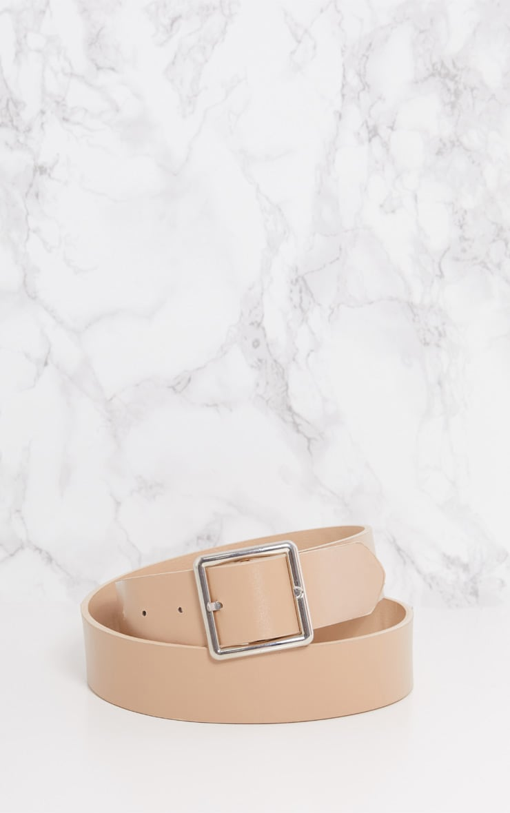 Nude Basic Square Buckle Belt 4