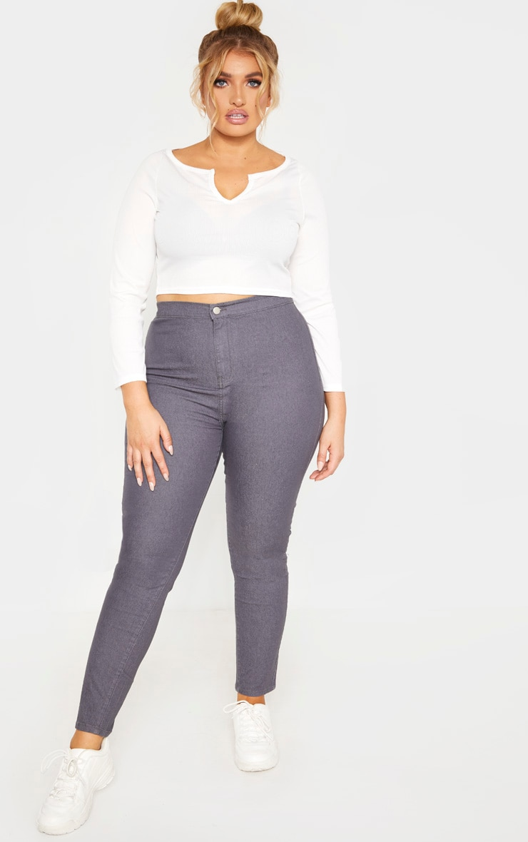 Plus Charcoal Stretch Jegging 1