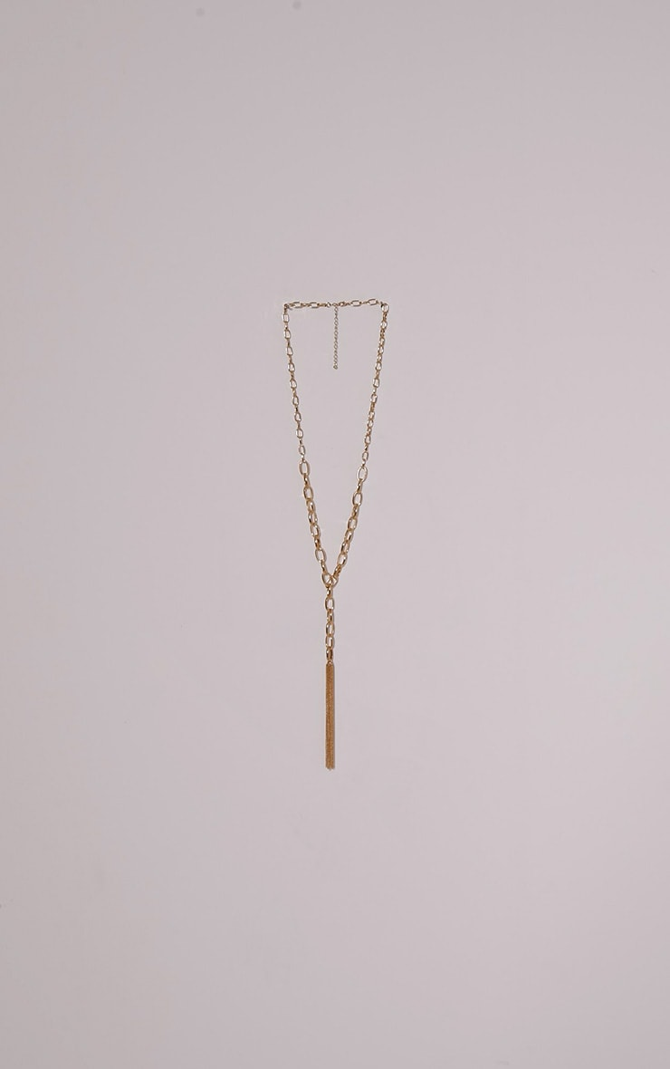 Cahrie Gold Chain Tassel Necklace 3