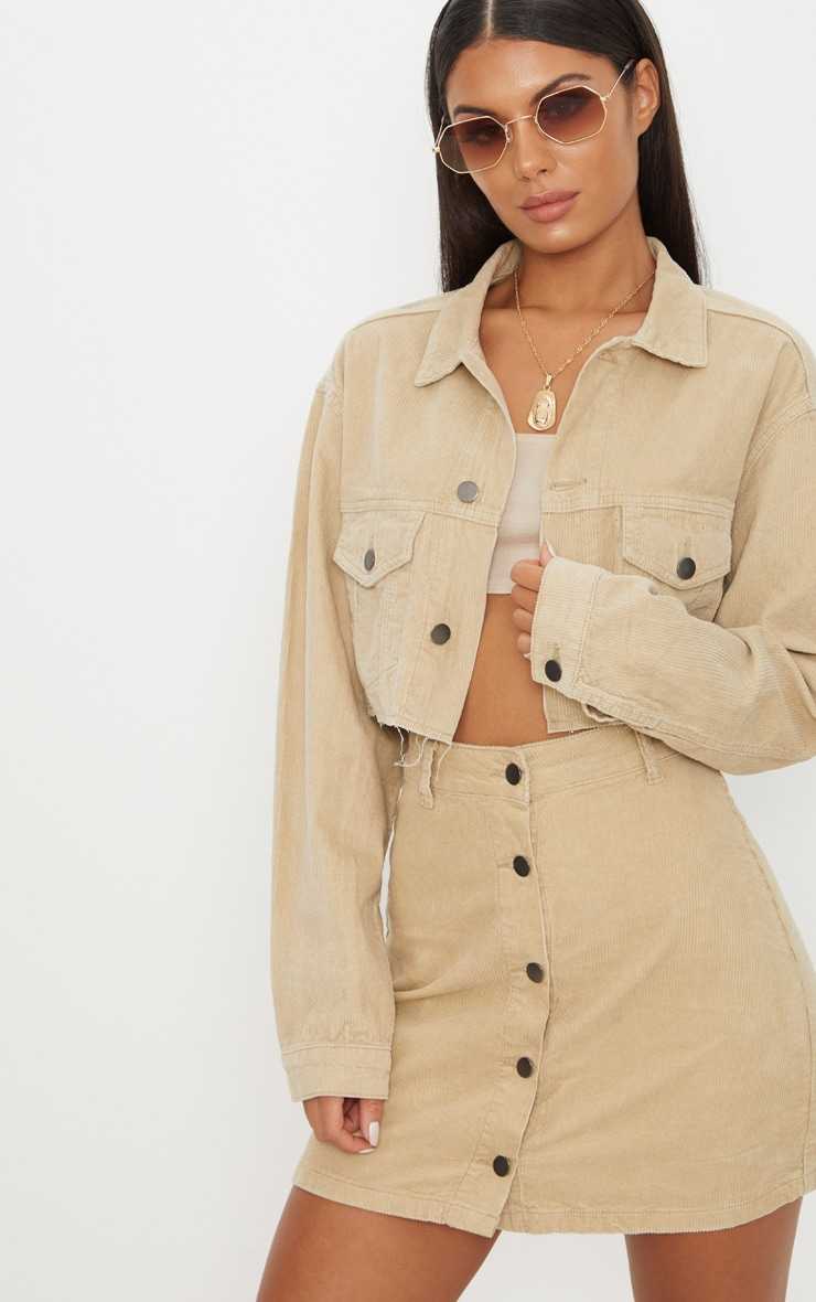 Stone Cropped Cord Jacket 1