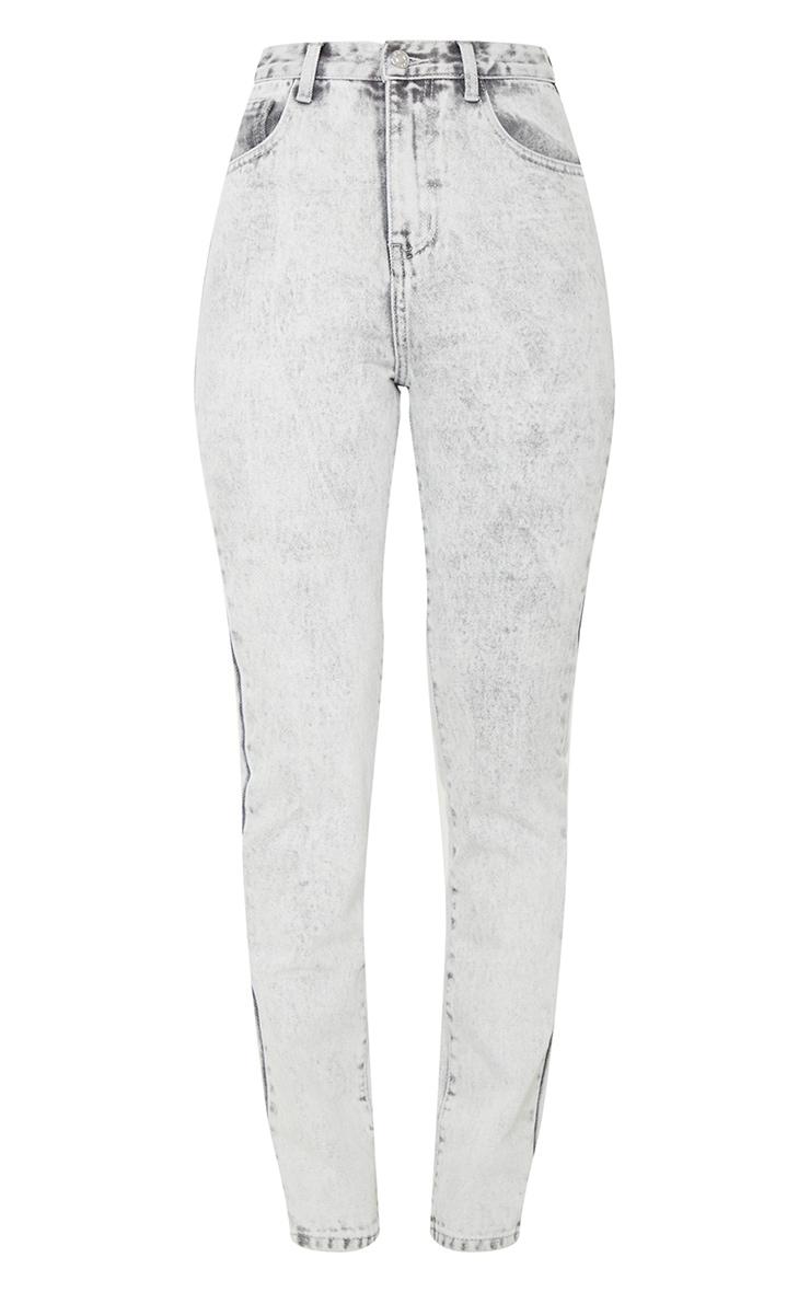 Washed Acid Grey Long Leg Rigid Skinny Jeans 5
