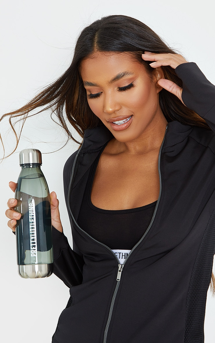PRETTYLITTLETHING Smoke Glass Water Bottle image 2