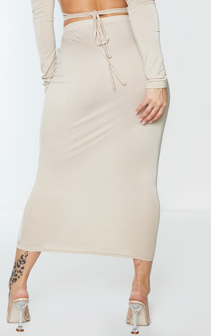Shape Stone Jersey High Waist Midi Skirt 3