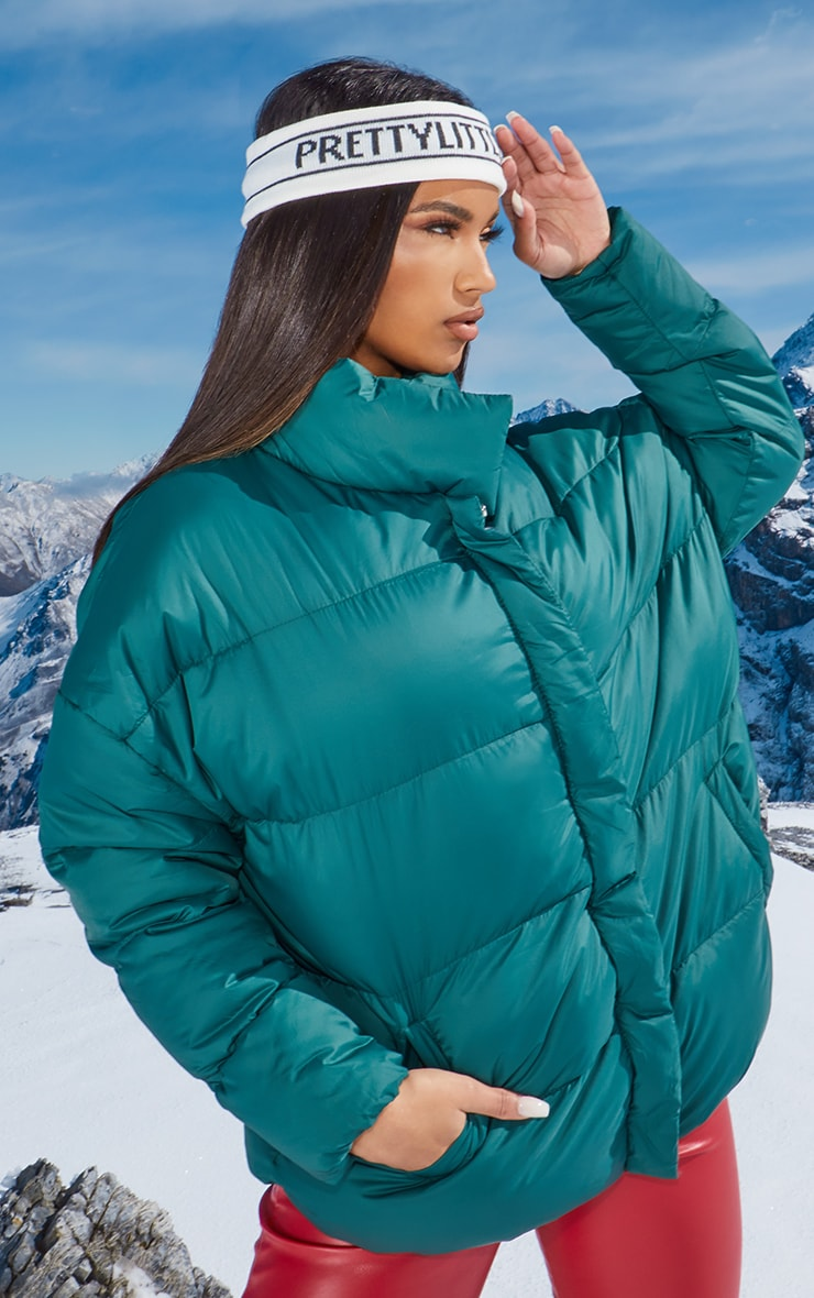 Forest Green Oversized Boyfriend Puffer 1