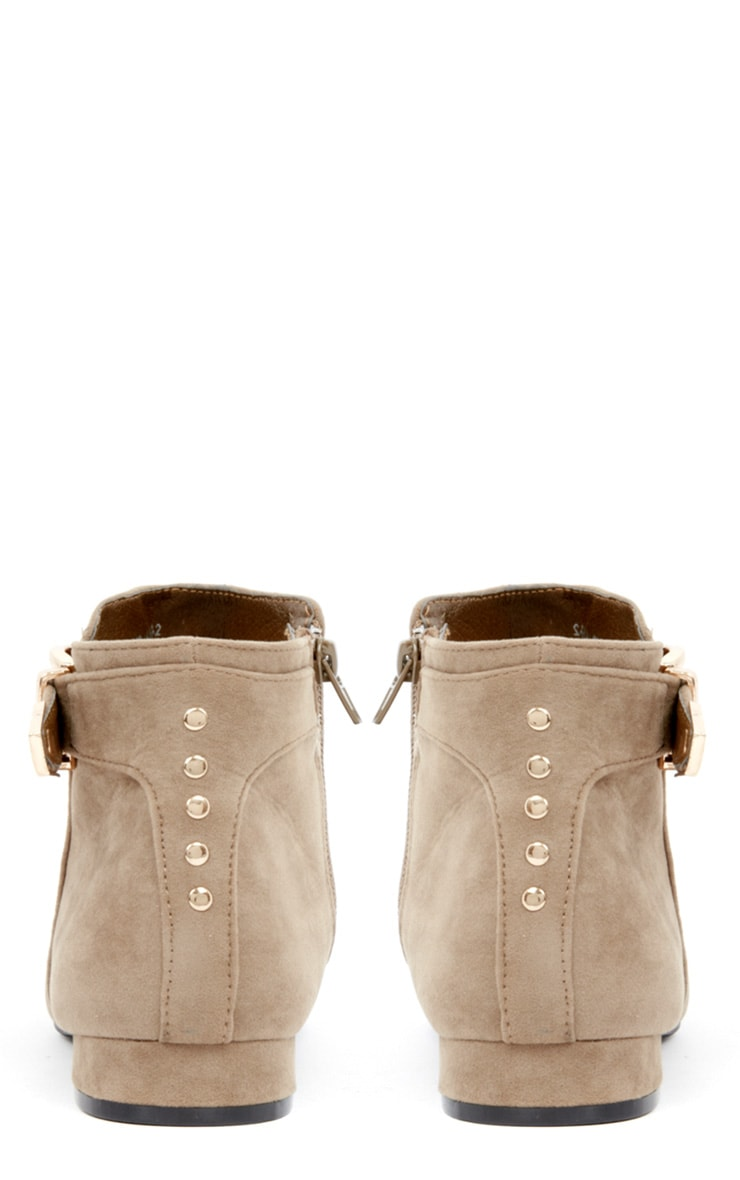 Layla Beige Suede Ankle Boots 2