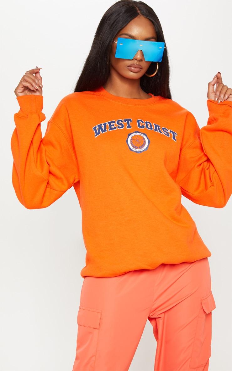 Orange West Coast Sweater by Prettylittlething
