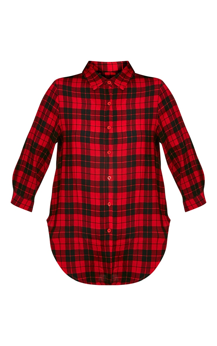 Dana chemise à carreaux rouge 3