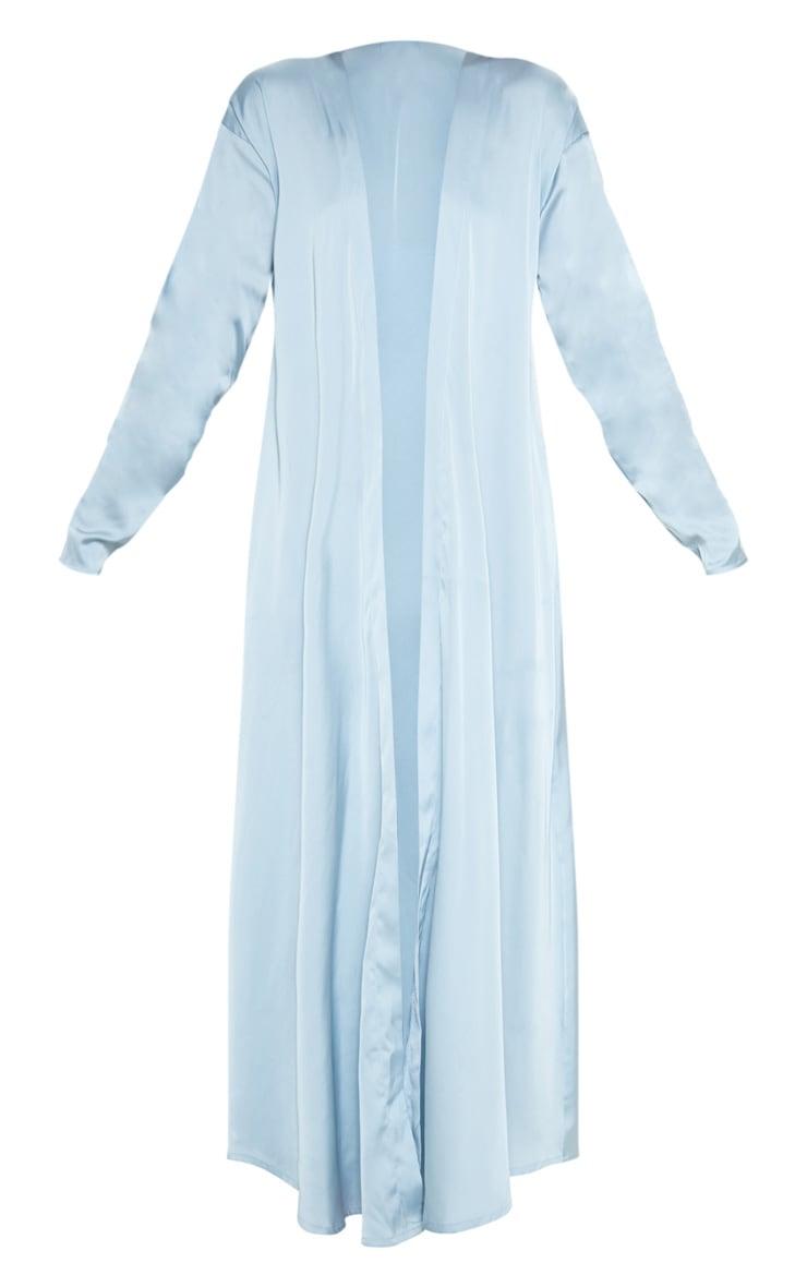 Kimono bleu ciel satiné 3