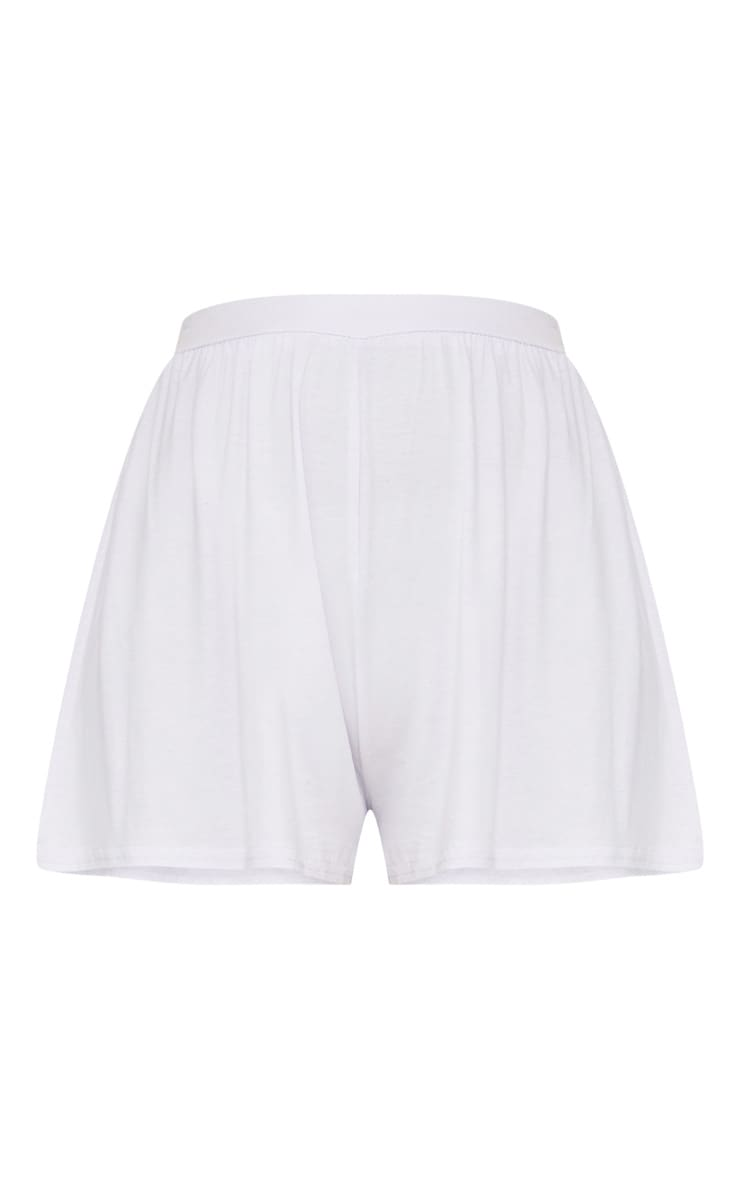 Lucilla White Jersey Floaty Shorts 3