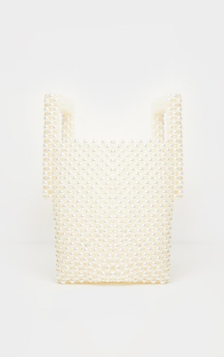White Pearl Bucket Mini Grab Bag 3