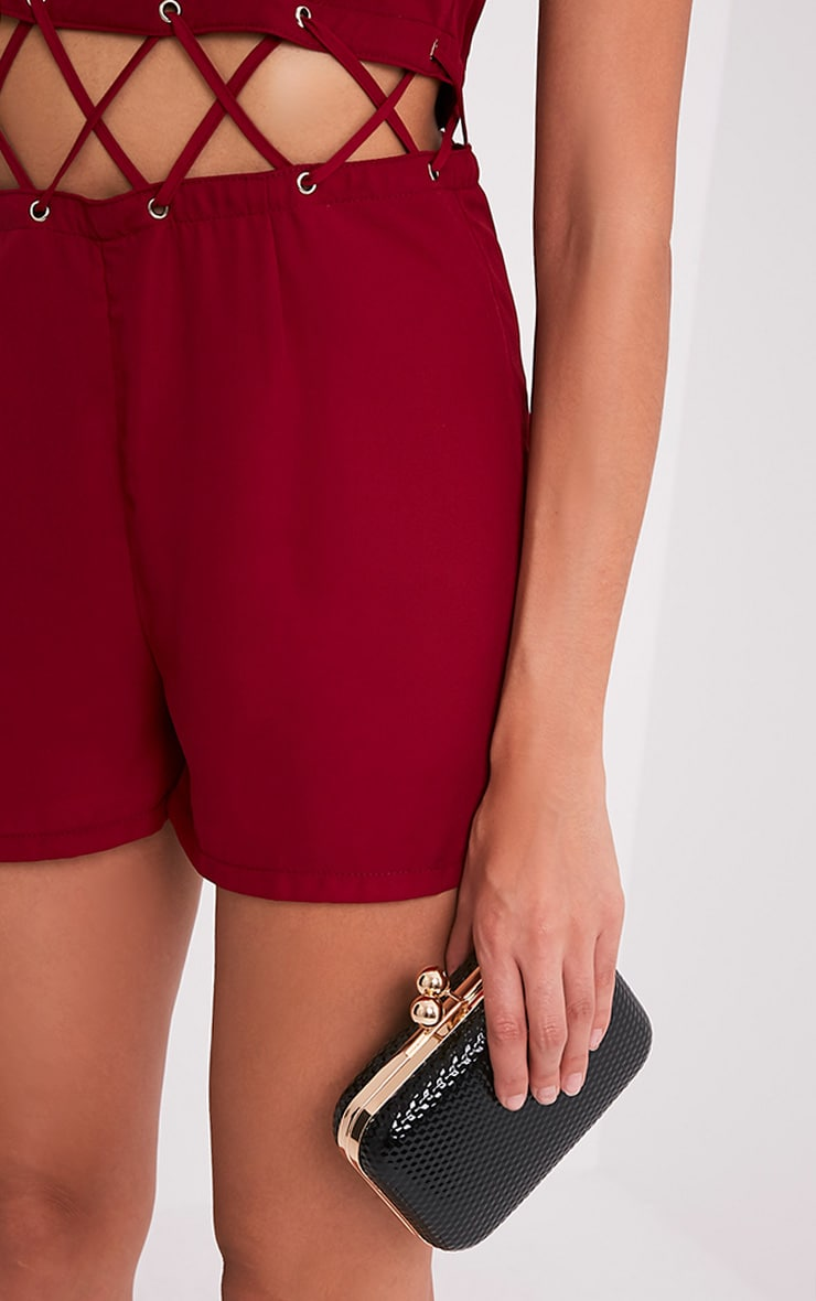 Sophi Burgundy Strappy Detail Playsuit 5