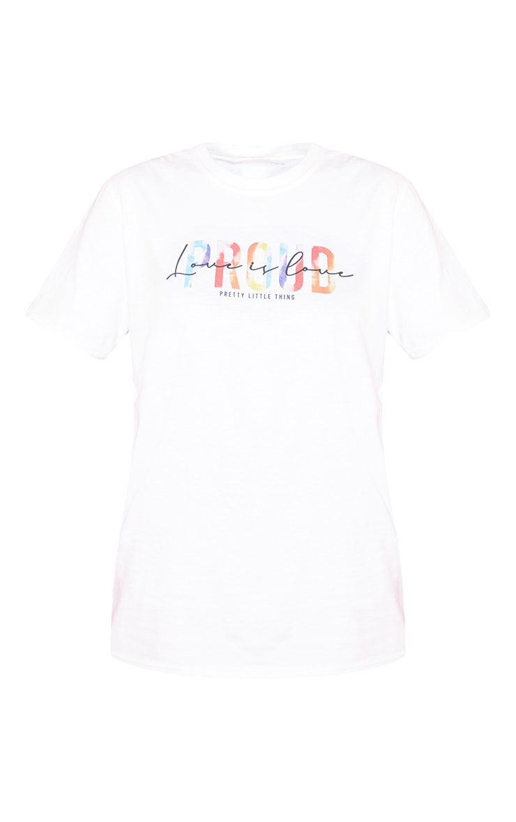 White Love Is Love T Shirt 5