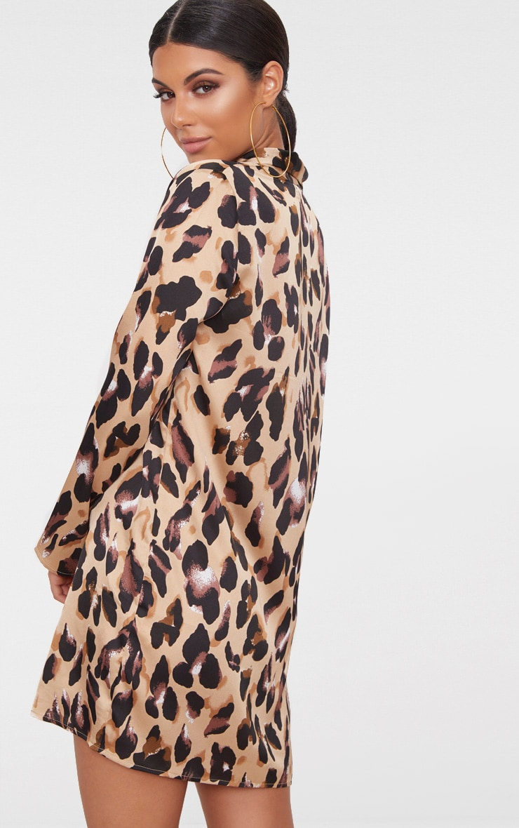 Leopard Oversized Loose Fit Blazer  Dress 2