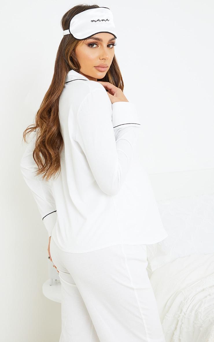 PLT Maternité - Haut de pyjama à manches longues blanc imprimé Mama 2
