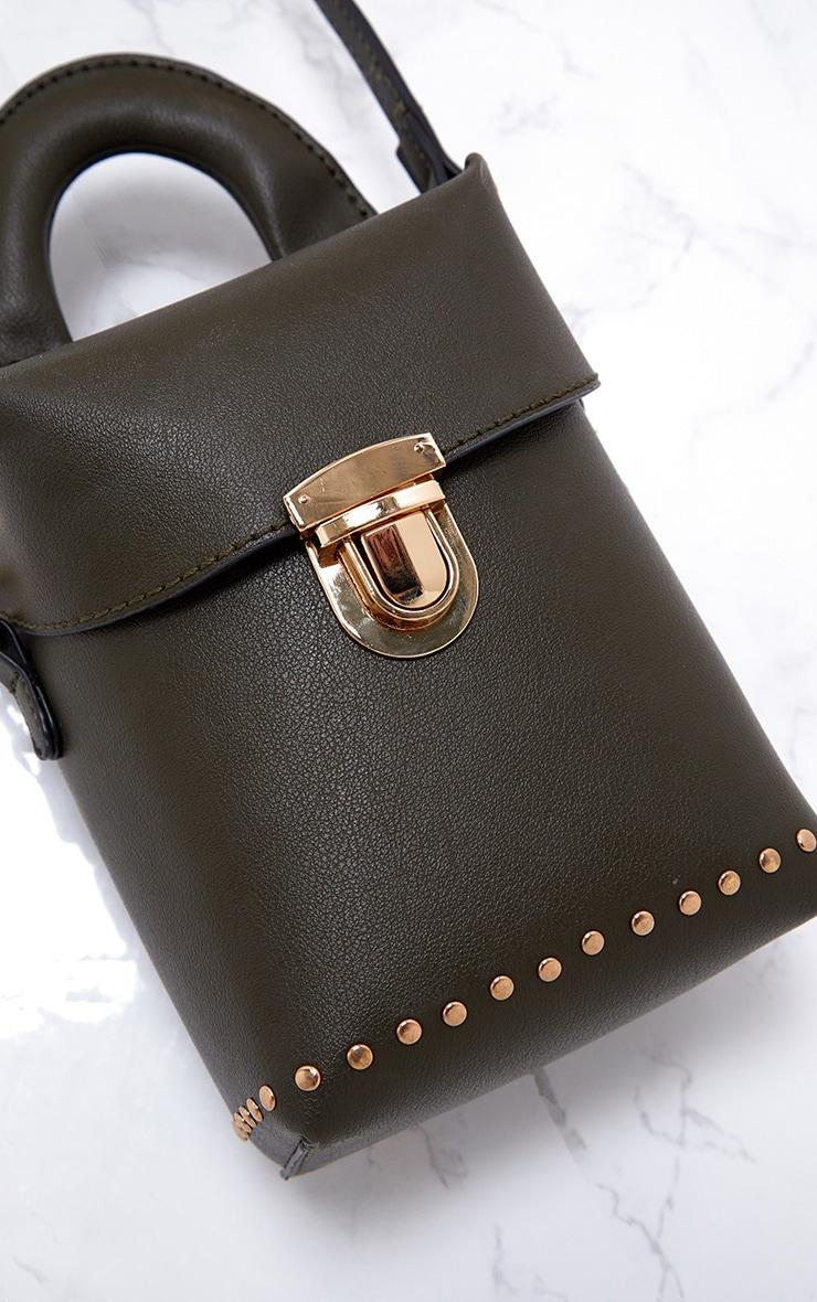Olive Mini Handled Handbag 6