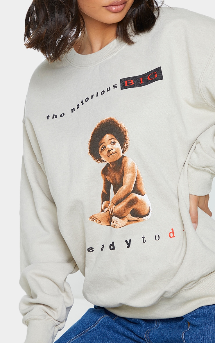 Stone Notorious B.I.G Front And Back Printed Sweatshirt 4