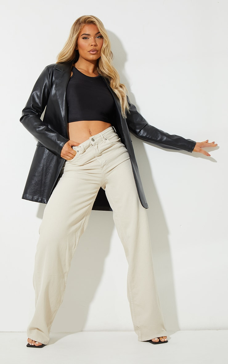 Recycled Stone Wide Leg Jeans 1
