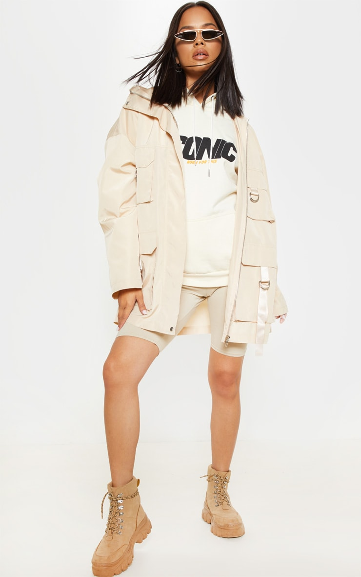 Stone Pocket Detail Oversized Jacket  1